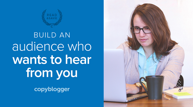 build an audience who wants to hear from you