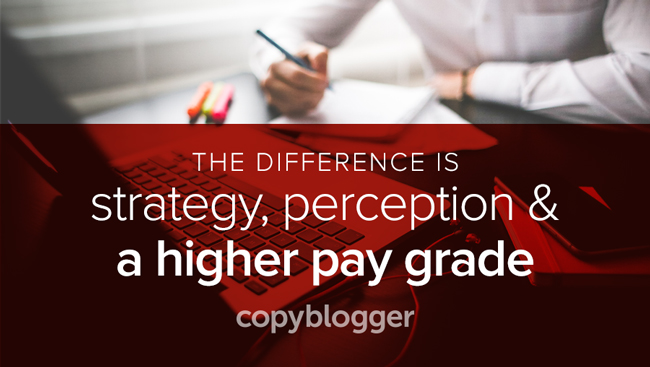 the difference is strategy, perception, and a higher pay grade