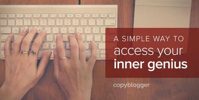fingers typing on keyboard - a simple ways to access your inner genious