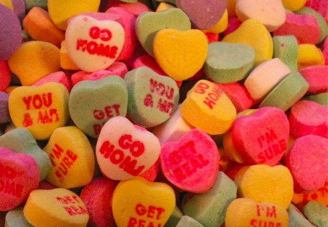 image of valentine heart candies