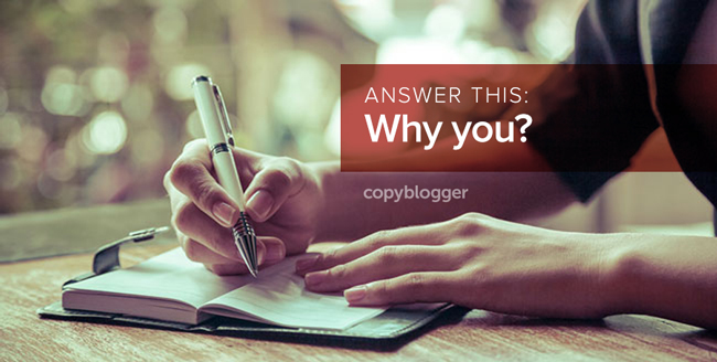 a person writing in a notebook - answer this: why you?