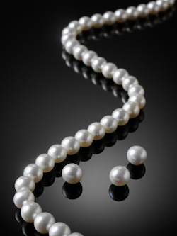 image of string of pearls