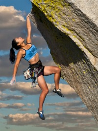 image of woman rock climber