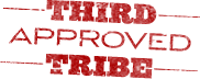 image of rubber stamp saying Third Tribe Approved