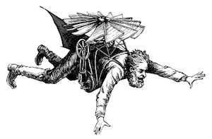 Image of Writer in Flying Machine