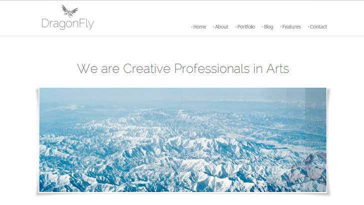 Dragonfly Satu Halaman Blog Portfolio Theme WordPress
