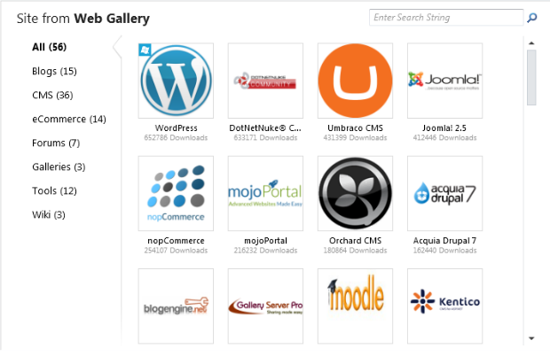 Open Source App Gallery WebMatrix