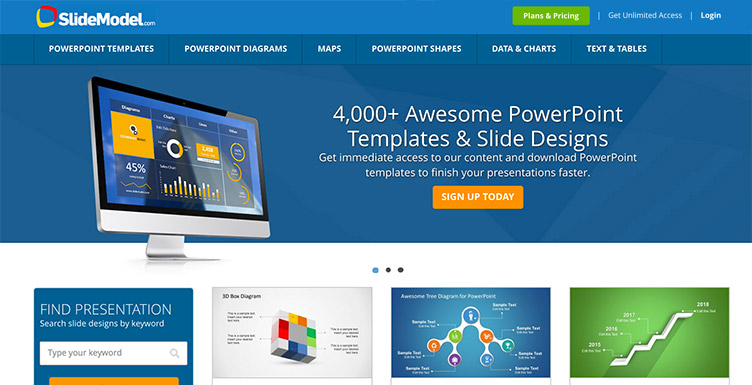 SlideModel Homepage
