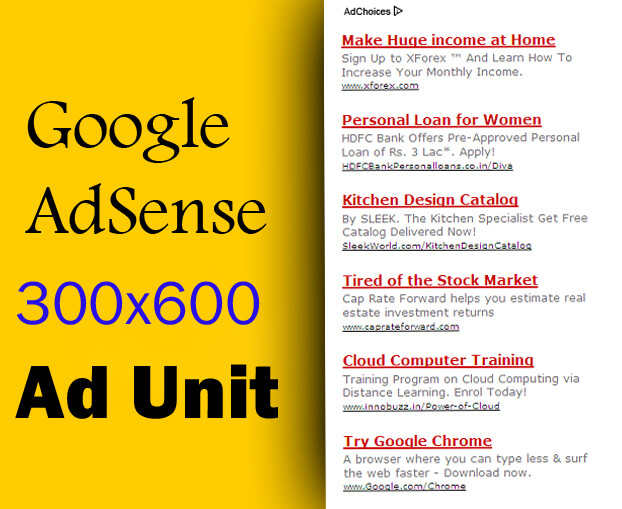 Google Adsense sampel unit iklan 300x600