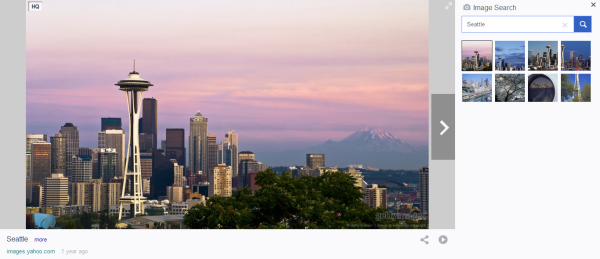 Seattle Washington Yahoo Image search tampilan penuh
