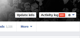 Facebook Timeline Log Aktivitas Tombol