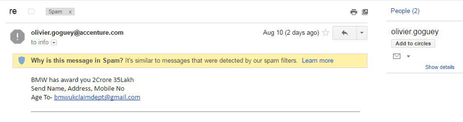 Contoh Spam Email